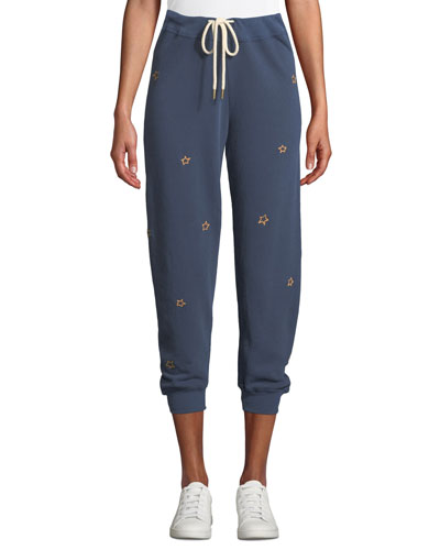 The Cropped Sweatpants with Stars