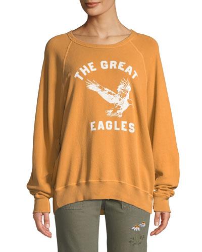 The College Sweatshirt w/ Eagles Varsity Graphic