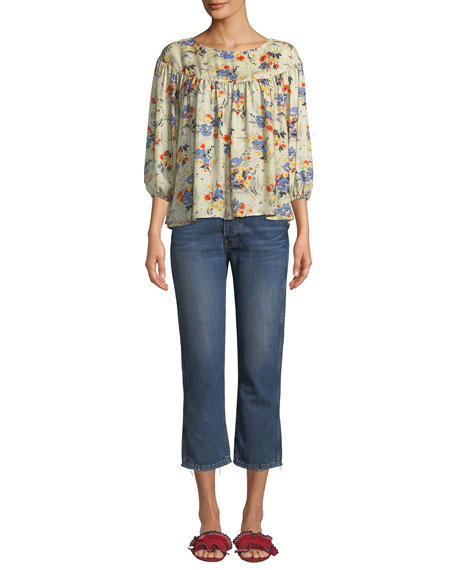 The Gent Cropped Straight-Leg Jeans