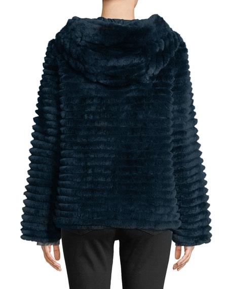 Reversible Fur & Down Jacket w/ hood