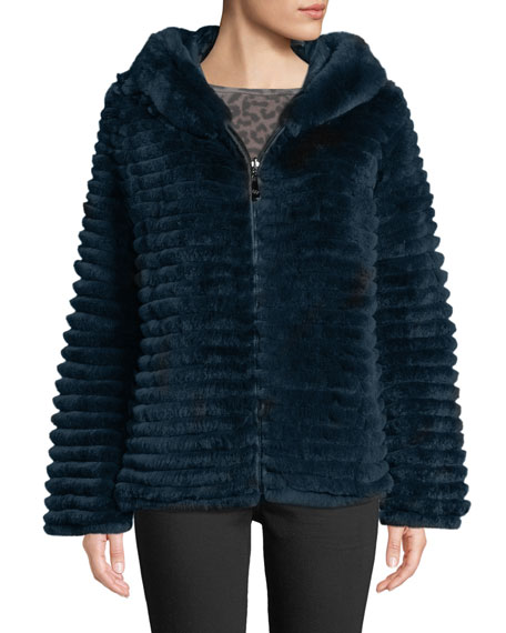 Belle Fare Reversible Fur & Down Jacket w/