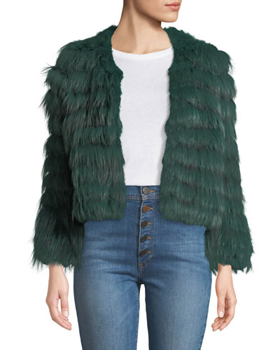 Fawn Chevron Fur Jacket