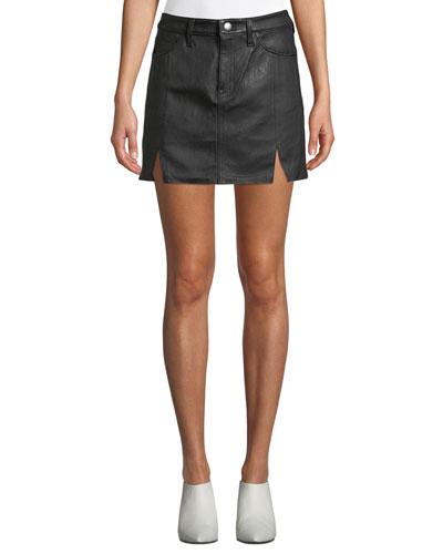 The Leather Mini Five-Pocket Skirt