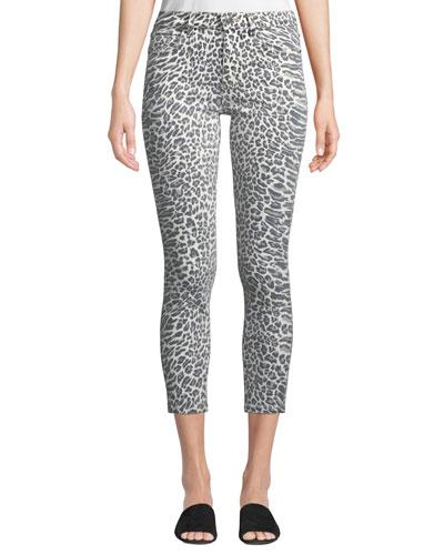 The Stiletto Leopard-Print Skinny Jeans