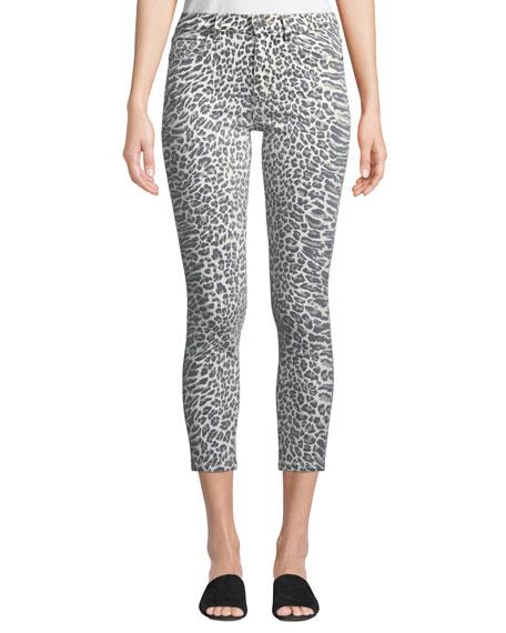 4da237892389 Current/Elliott The Stiletto Leopard-Print Skinny Jeans