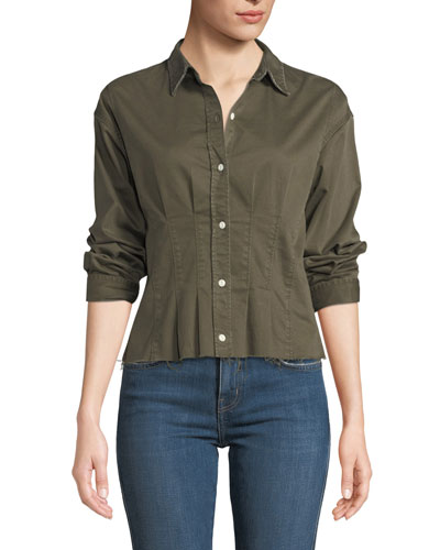 The Tella Pintucked Button-Front Shirt