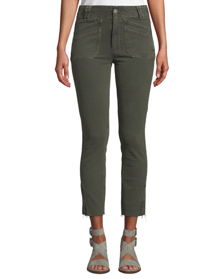 PAIGE Utilitarian Hoxton Ankle Tapered Jeans In Vintage Forest Night