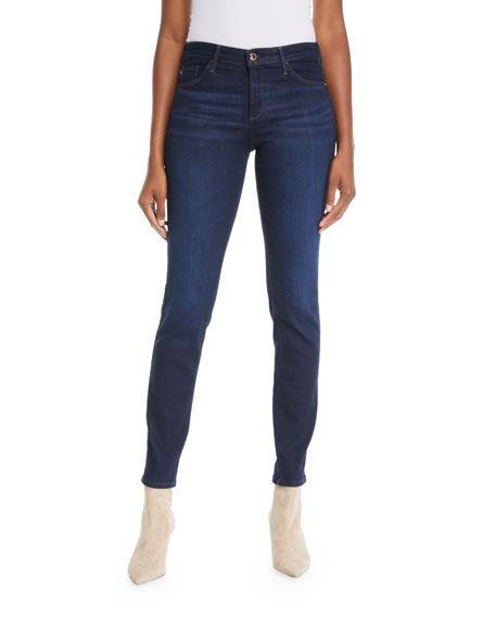 Prima Mid-Rise Ankle Cigarette Jeans in Glamour