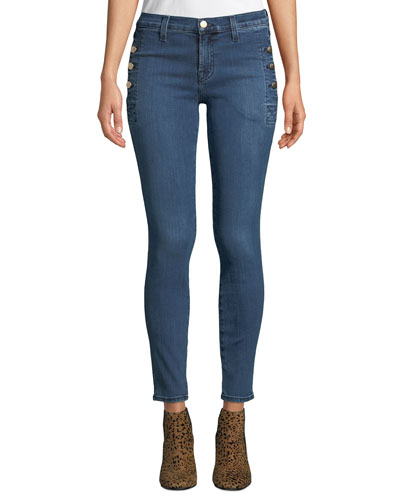 Zion Mid-Rise Skinny W/ Button Pockets