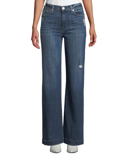 Alexa Distressed Wide-Leg Jeans