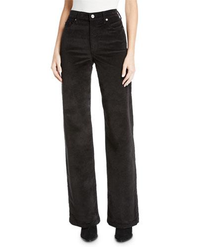Alexa Wide-Leg Corduroy Jeans