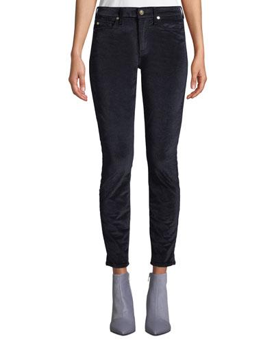 The Ankle Skinny Jeans in Velvet