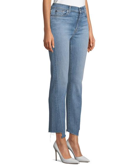 93911a2d535 7 For All Mankind Edie Straight-Leg Spliced-Hem Jeans