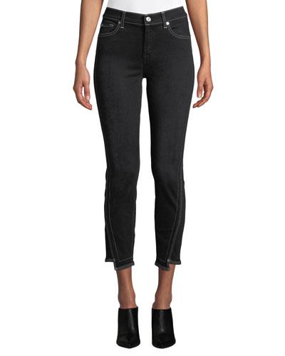 The Ankle Skinny-Leg Jeans w/ Step-Hem