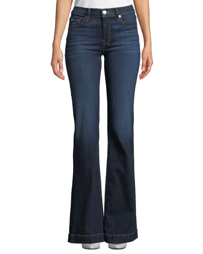 Dojo Flared-Leg Dark-Wash Jeans with