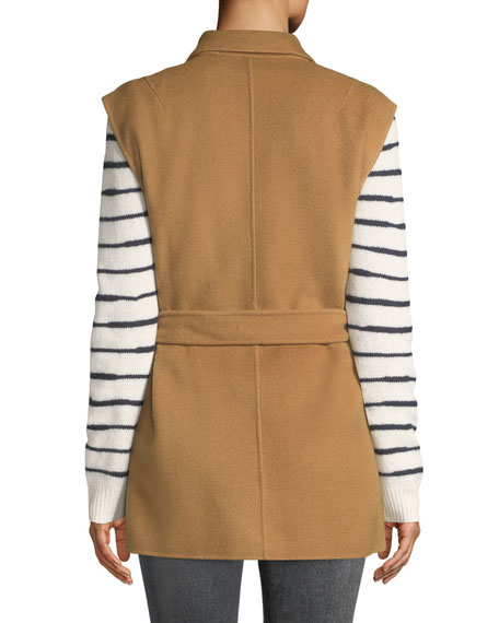 Pearson Belted Wool Double-Breasted Vest