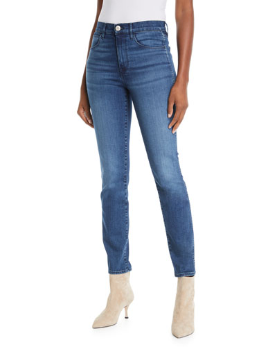 W3 Authentic High-Rise Straight-Leg Jeans
