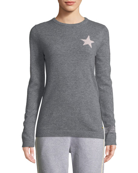 Billie Star Cashmere Sweater in Gray