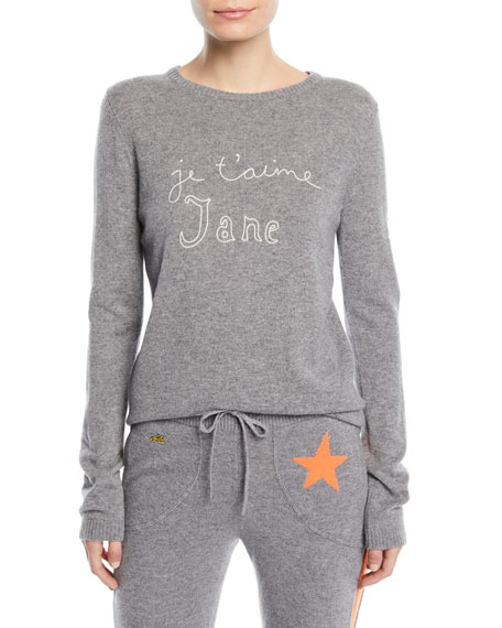 BELLA FREUD Je T'Aime Jane Cashmere Sweater in Gray