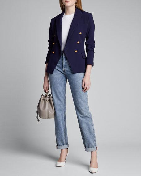 L'Agence Kenzie Double-Breasted Blazer Jacket