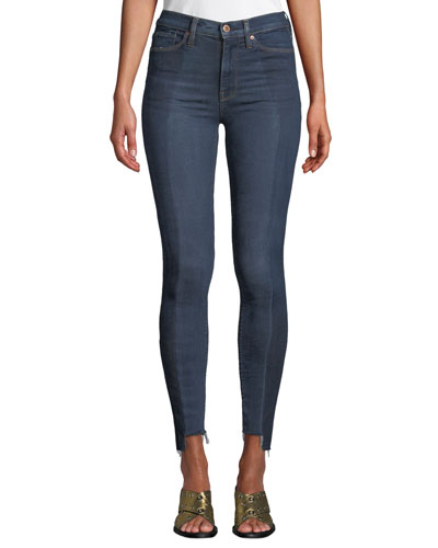 Barbara High-Rise Skinny Step-Hem Ankle Jeans - Enhance Denim