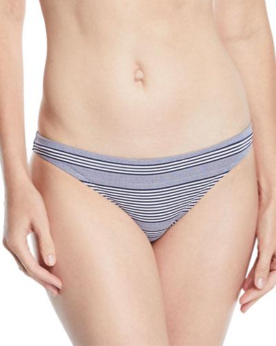 Cote Sauvage Striped Hipster Bikini Swim Bottoms