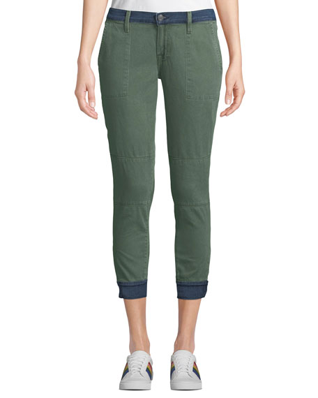 Etienne Marcel TWO-TONE SKINNY MILITARY JOGGER PANTS