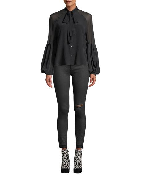 Margaux Instasculpt Ankle Skinny Jeans with Raw Hem