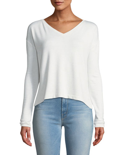 Reily Cropped Long-Sleeve Top