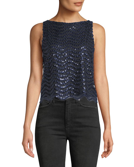 Amal Sequin Boxy Tank Top