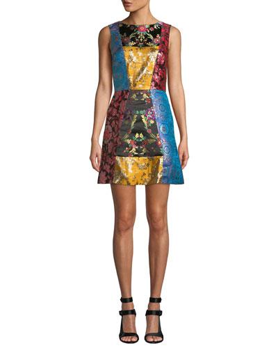 Malin Patchwork Short Dress