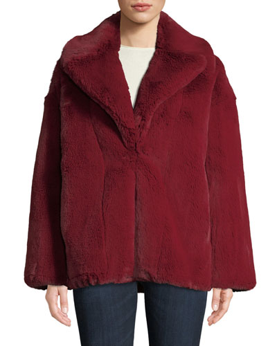 Collared Faux-Fur Jacket