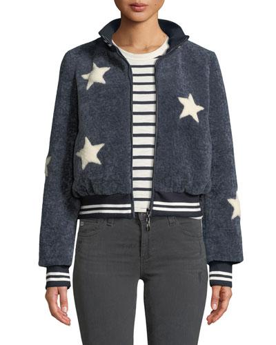 Sheepskin Star Baseball Jacket