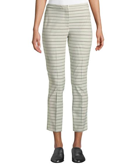 Classic Skinny Pants - Viscose Grid