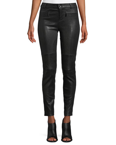 Corvin Skinny Leather Ankle Pants