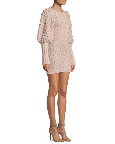 b011eb07bde Zimmermann Fleeting Bauble Blouson-Sleeve Body-Con Dress