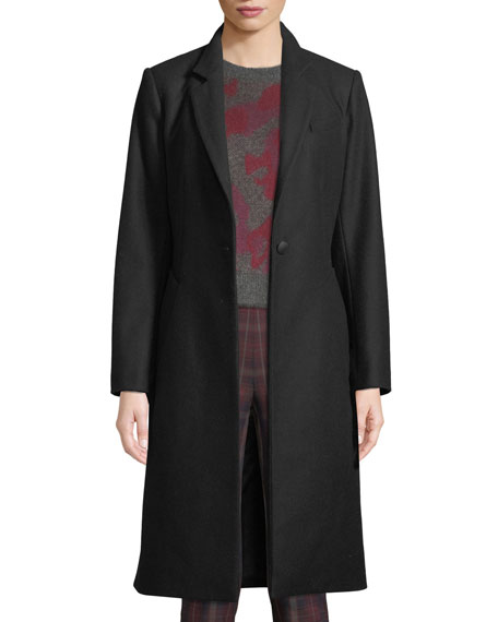 Daine One-Button Classic Fitted Top Coat