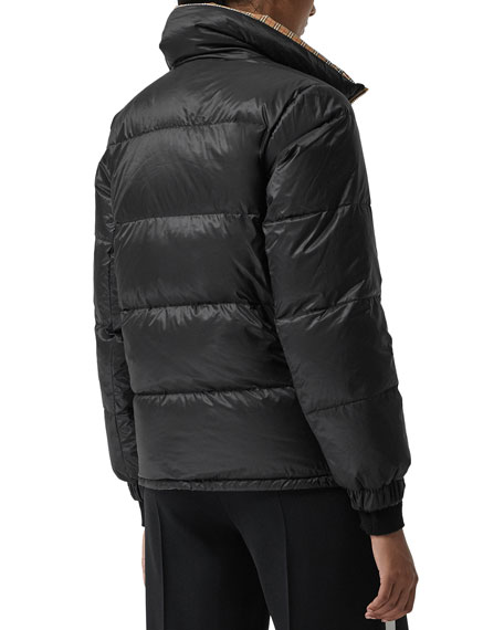 Reversible Check Puffer Jacket