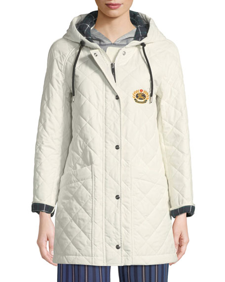 Roxwell Diamond-Quilted Hooded Parka Jacket