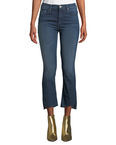 The Insider Crop Step-Hem Frayed Jeans