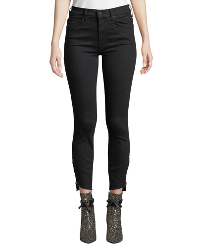 The Stunner Double-Zip Step-Hem Skinny Jeans