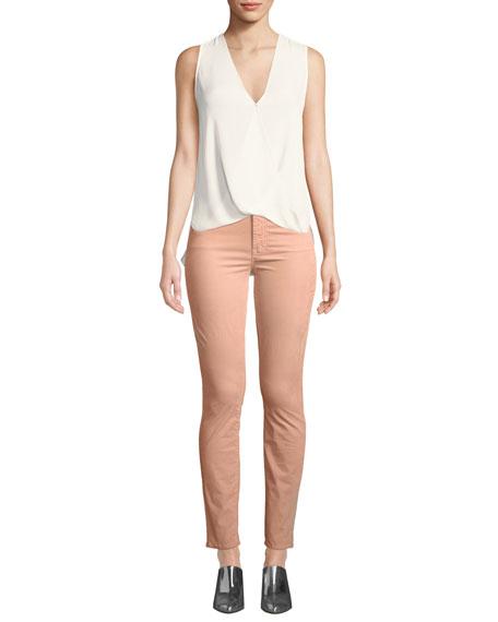 Looker Velour High-Waist Skinny Ankle Jeans