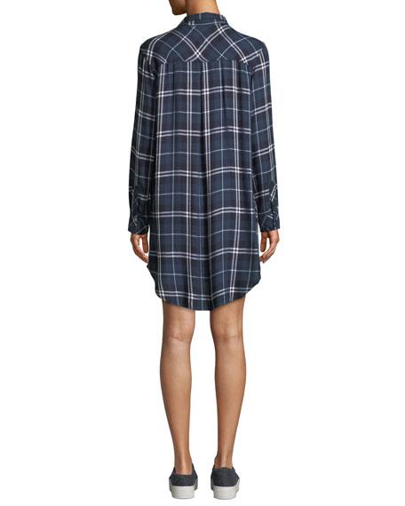 Bianca Plaid Long-Sleeve Shirtdress