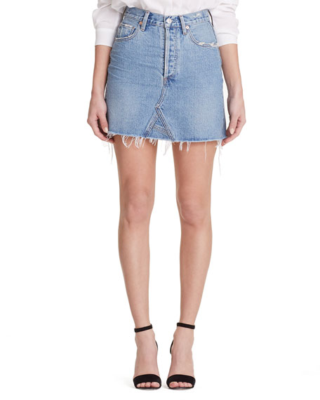 Citizens of Humanity Astrid High-Rise Frayed Denim Mini