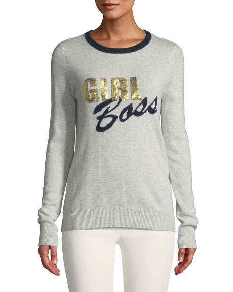 Autumn Cashmere GIRL BOSS CASHMERE CREWNECK SWEATER