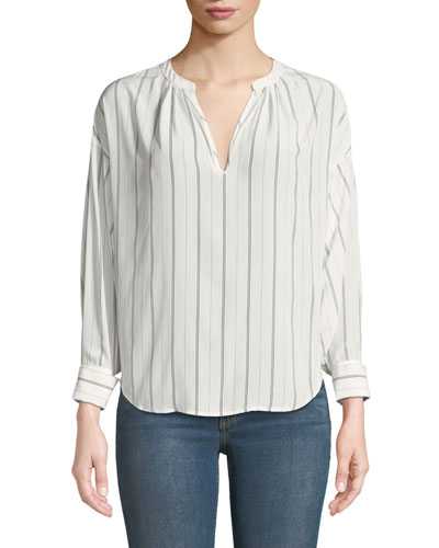 Toril Long-Sleeve Stripe Top