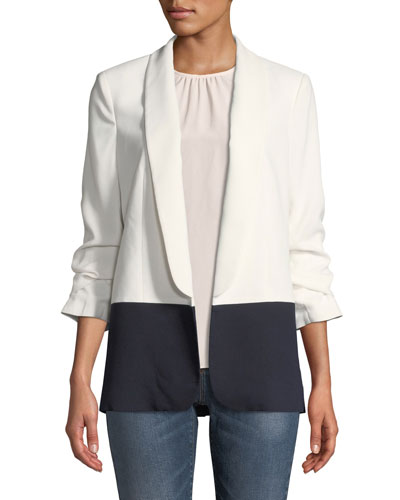Lollasa B Colorblock Jacket with Scrunch Sleeves