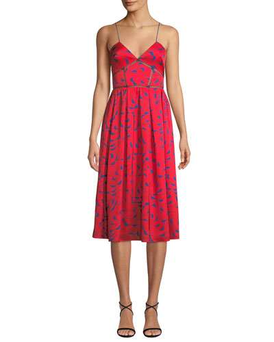Azaelea Printed Sleeveless Midi Dress