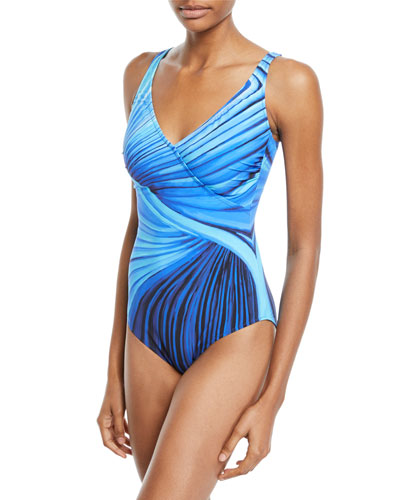 Northern Lights Printed One-Piece Swimsuit