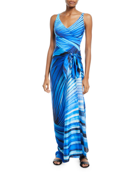 Gottex NORTHERN LIGHTS PRINTED COVERUP PAREO